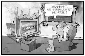 Brennpunkt Hitzewelle von Kostas Koufogiorgos | Natur Cartoon | TOONPOOL